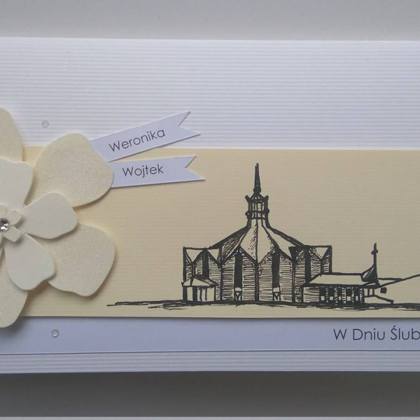 kartka z motywem kościoła